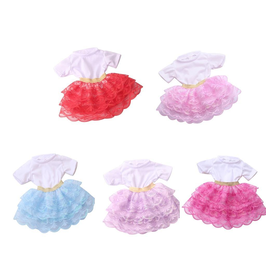 18inch-Girl-Doll-Princess-Skirt-for-American-Doll-Clothing-Accs-Kids-Gifts miniature 4