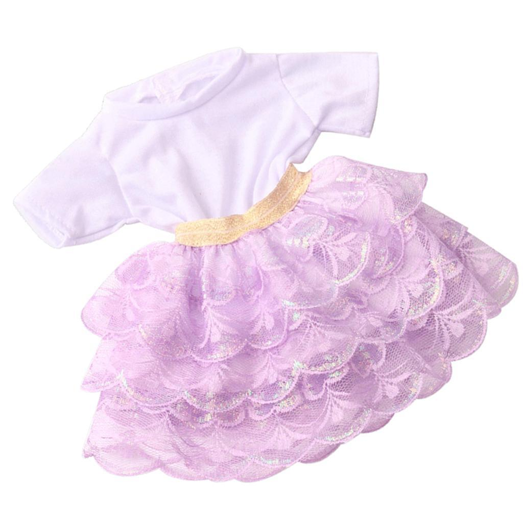 18inch-Girl-Doll-Princess-Skirt-for-American-Doll-Clothing-Accs-Kids-Gifts miniature 3