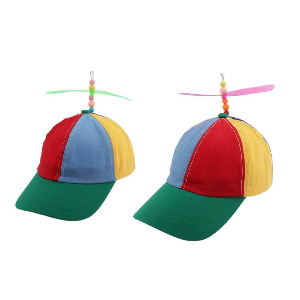 Atrumly Adjustable Baseball Hat Funny Multicolor Propeller Unisex Outdoor Hat Sun Hat with Visors
