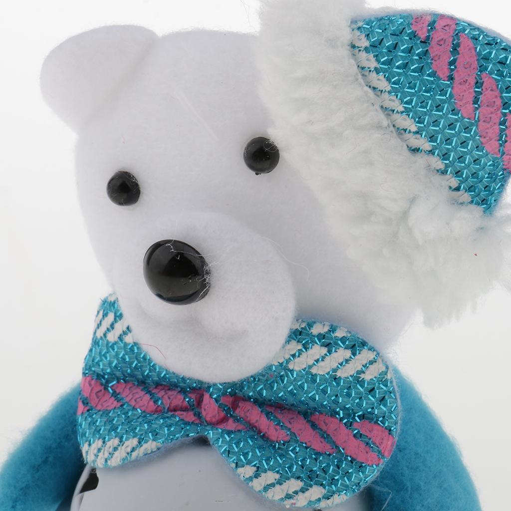 Peluche-Con-Campana-Pupazzo-Di-Neve-Babbo-Natale-Alce-Orso-Ornamenti-Per miniatura 18