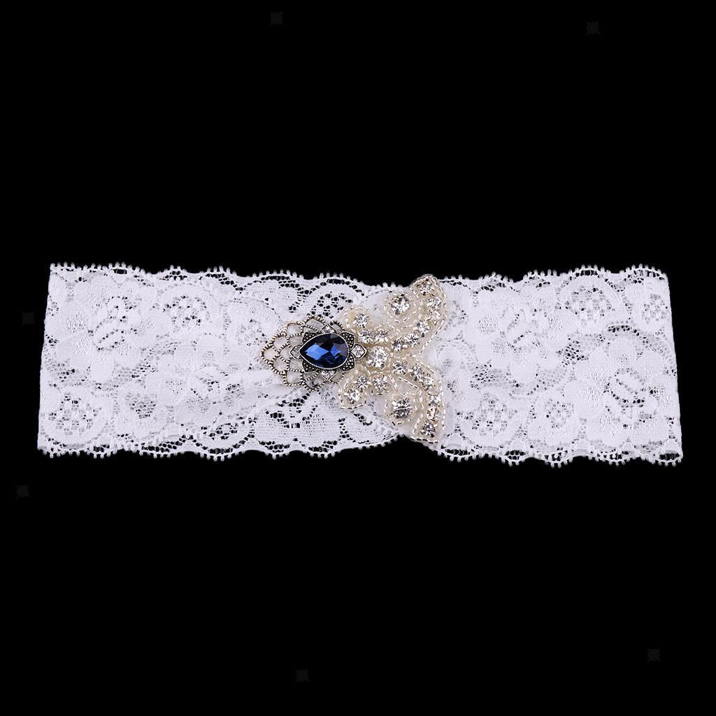 Wedding-Bride-Crystal-Lace-Garter-Belt-Throwaway-Toss-Hen-Stag-Party thumbnail 10