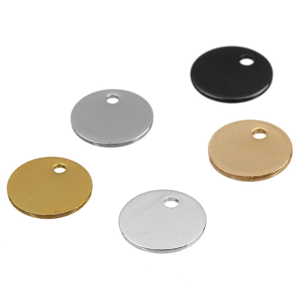 20 pcs plaqué pièce ronde estampage fabrication de bijoux en métal tag