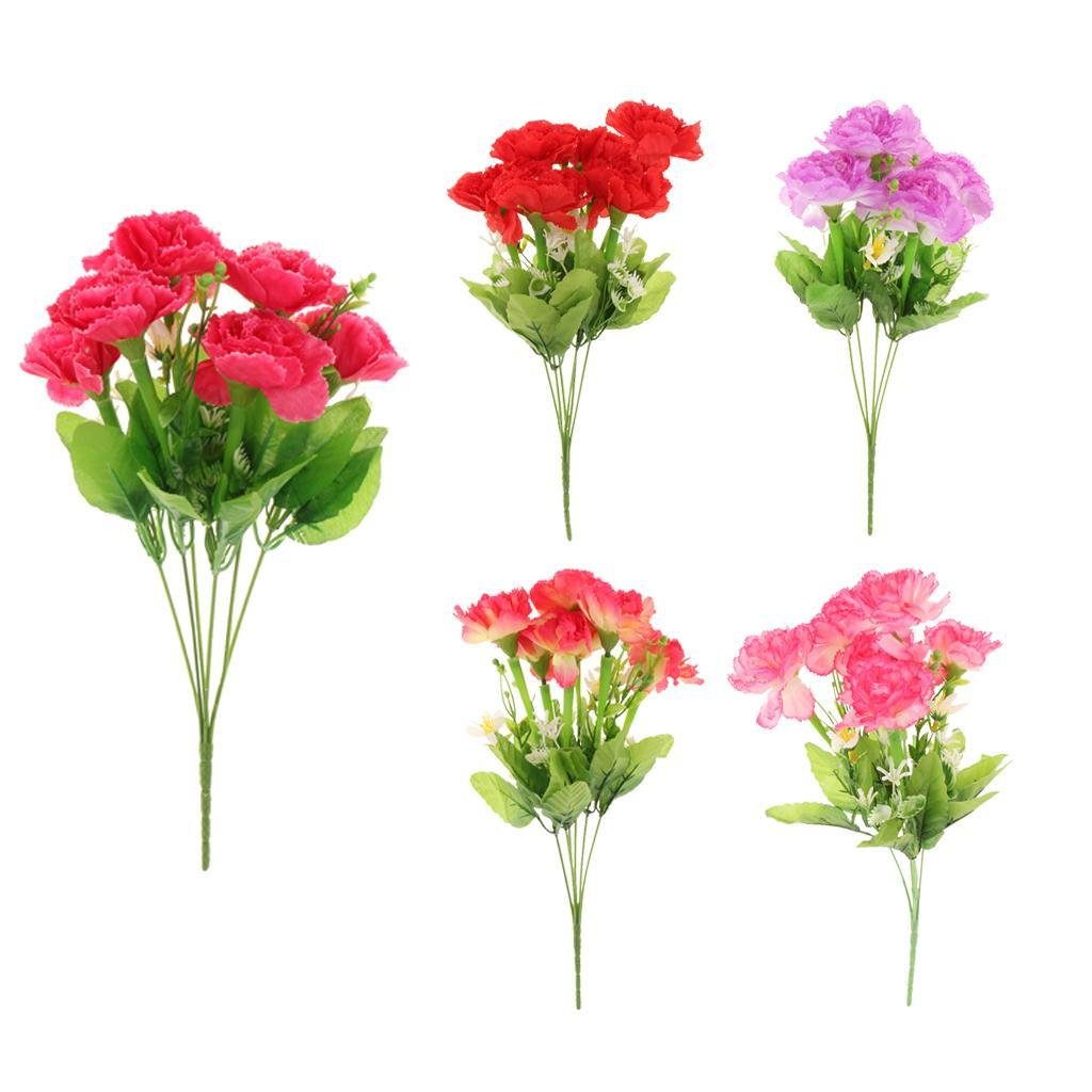 Bunch Artificial Carnation Flowers Bouquet Home Party Hotel Decor 5