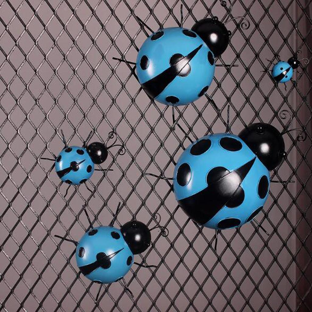 Metal-Ladybug-Garden-Decoration-Wall-Hanging-Sculpture-Figure-Hanger-Decor thumbnail 18