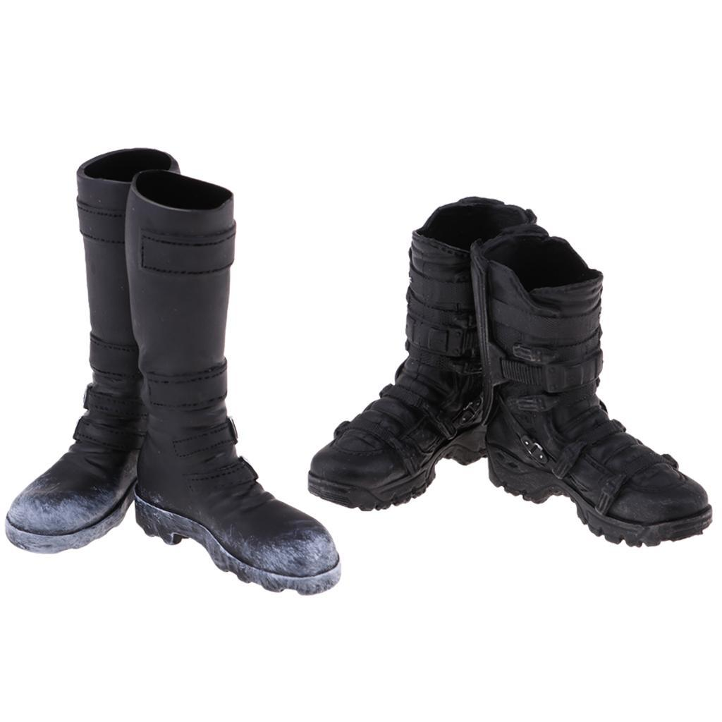 1-6-Scale-Male-Soldier-Combat-Boots-Shoes-for-12inch-Action-Figures-Bodies thumbnail 3