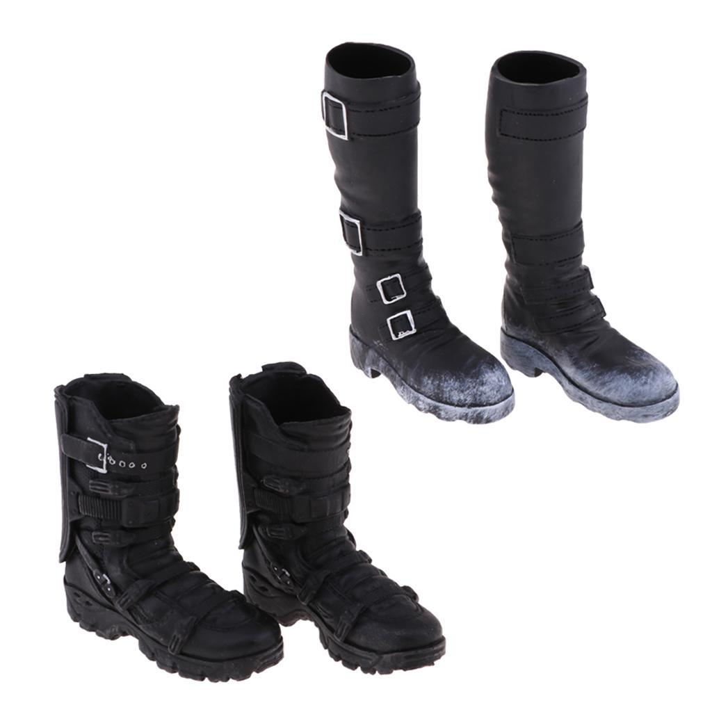 1-6-Scale-Male-Soldier-Combat-Boots-Shoes-for-12inch-Action-Figures-Bodies thumbnail 4