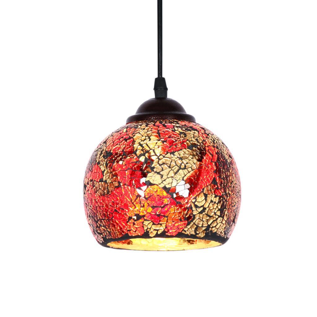 Mosaic-Style-Hanging-Light-Ceiling-Pendant-Lamp-Retro-Lampshade-Cafe-Restaurant thumbnail 13