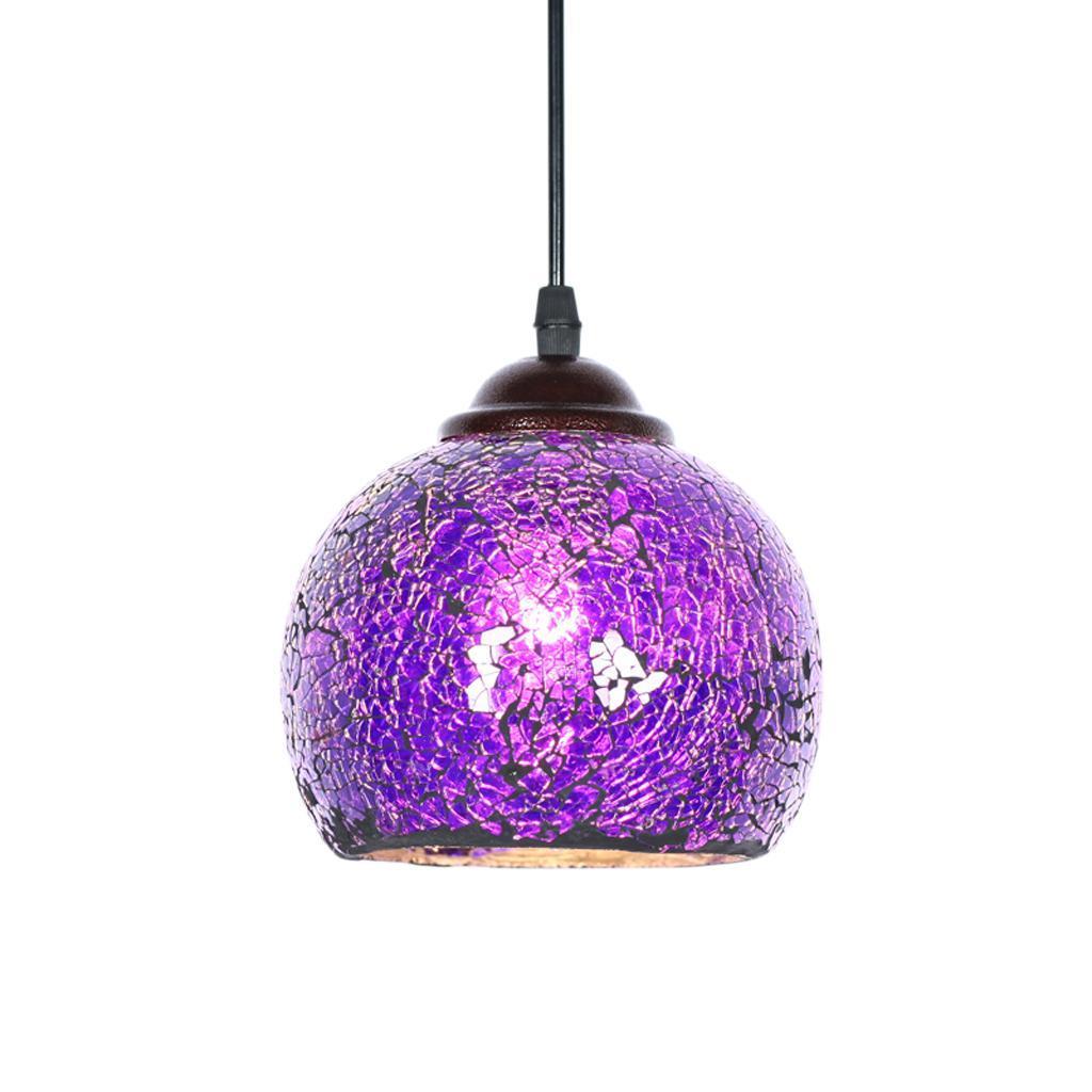 Mosaic-Style-Hanging-Light-Ceiling-Pendant-Lamp-Retro-Lampshade-Cafe-Restaurant thumbnail 63