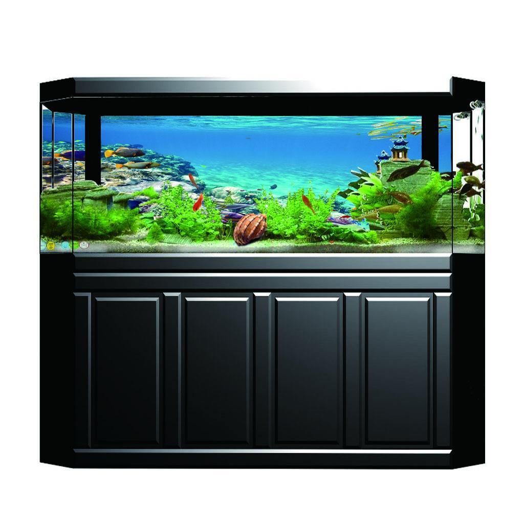 Sfondo-Stampa-Adesivi-Monocromatici-Per-Acquario-Serbatoio-da-Pesca-in-PVC miniatura 7