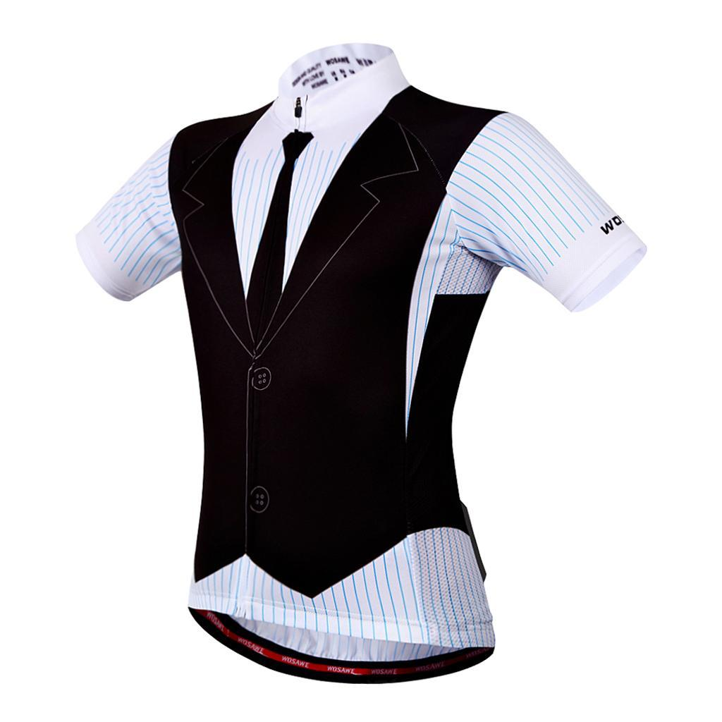 Hommes-Maillot-Cyclisme-Respirantes-Sechage-Rapide-Jersey-Manche-Court-Velo miniature 11