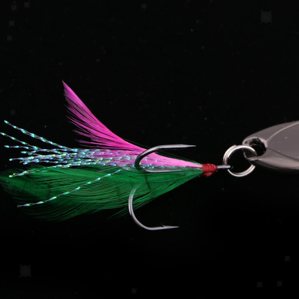 Esche-da-Pesca-Artificiale-Cucchiaio-Gancio-Crankbait-in-Metallo-Accessori miniatura 3