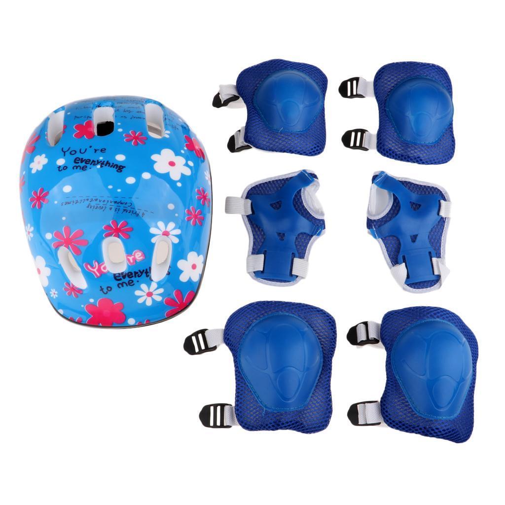 Junior-Kids-Roller-Skating-Skateboard-Helmet-Knee-Wrist-Guard-Elbow-Pad thumbnail 9