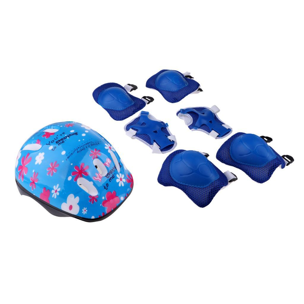 Junior-Kids-Roller-Skating-Skateboard-Helmet-Knee-Wrist-Guard-Elbow-Pad thumbnail 8