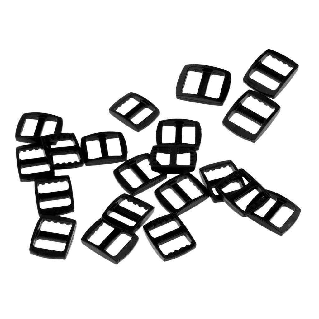 20-Pezzi-di-Fibbia-a-Tessitura-Webbing-Buckle-Accessori-di-Campeggio miniatura 22