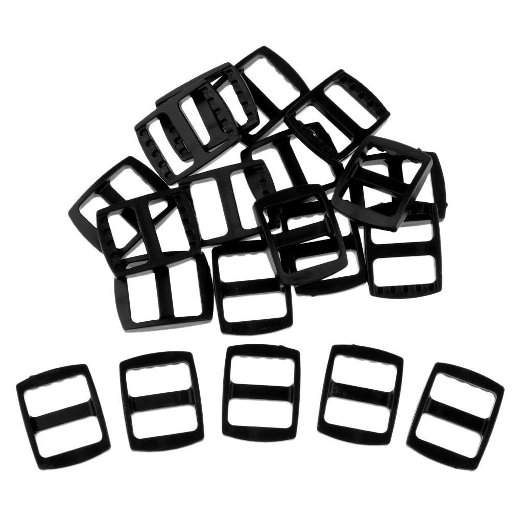 20-Pezzi-di-Fibbia-a-Tessitura-Webbing-Buckle-Accessori-di-Campeggio miniatura 20