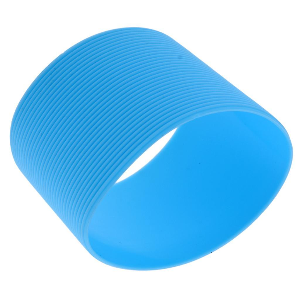 MagiDeal-Outdoors-Silicone-Round-Non-slip-Water-Bottle-Mug-Cup-Sleeve-Cover thumbnail 3