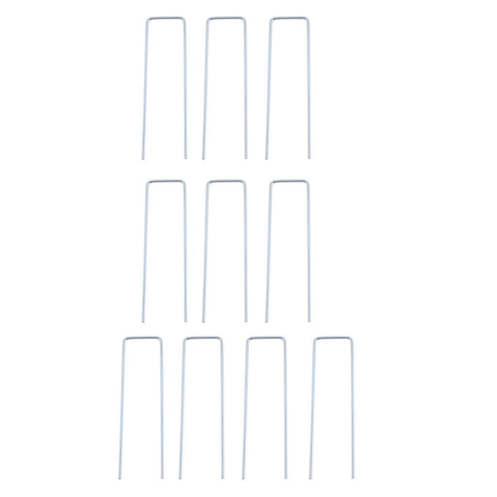 10-pezzi-tenda-da-campeggio-tenda-a-baldacchino-u-forma-perni-pioli-pali miniatura 9