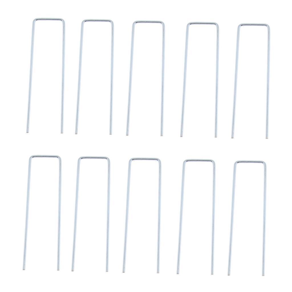 10x-Tent-Stake-U-Drawing-Metallo-Peg-Nails-Morsetti-Accessorio-per miniatura 9
