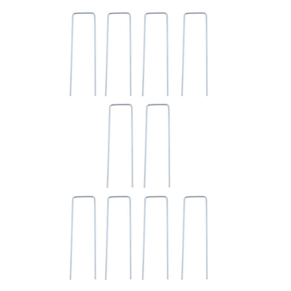 10x-Tent-Stake-U-Drawing-Metallo-Peg-Nails-Morsetti-Accessorio-per miniatura 10