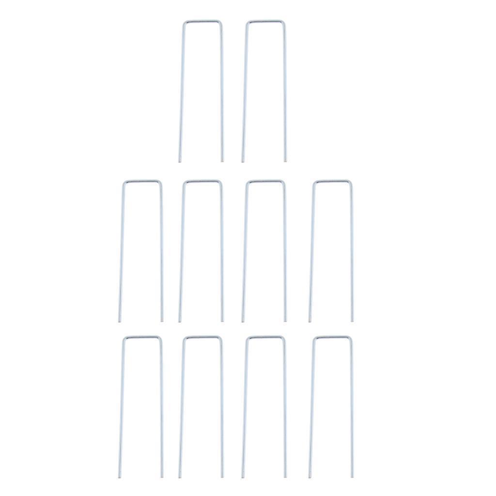 10x-Tent-Stake-U-Drawing-Metallo-Peg-Nails-Morsetti-Accessorio-per miniatura 11