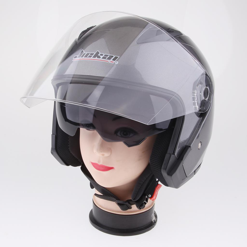 Magideal 3 4 Open Face Classic With Sun Visor Motorcycle Scooter Helmet M L Xl Xxl Glossy Black Xxl Protective Gear Automotive