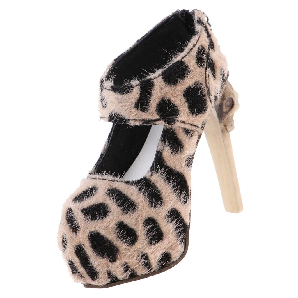 1/3 Doll Leopard High Heels For SD16 Girl Dolls Accessories Doll High Heels -Khaki Color