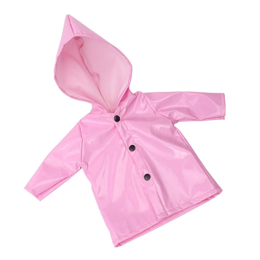 Candy-Color-Raincoat-Clothes-for-18-039-039-AG-American-Doll-Doll-Outfit-Accessory miniature 5