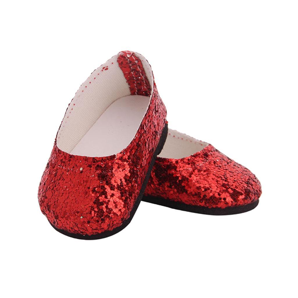 MagiDeal-Lovely-Sequin-Shoes-for-AG-American-Doll-18inch-Dolls-Clothes-Accs miniature 3