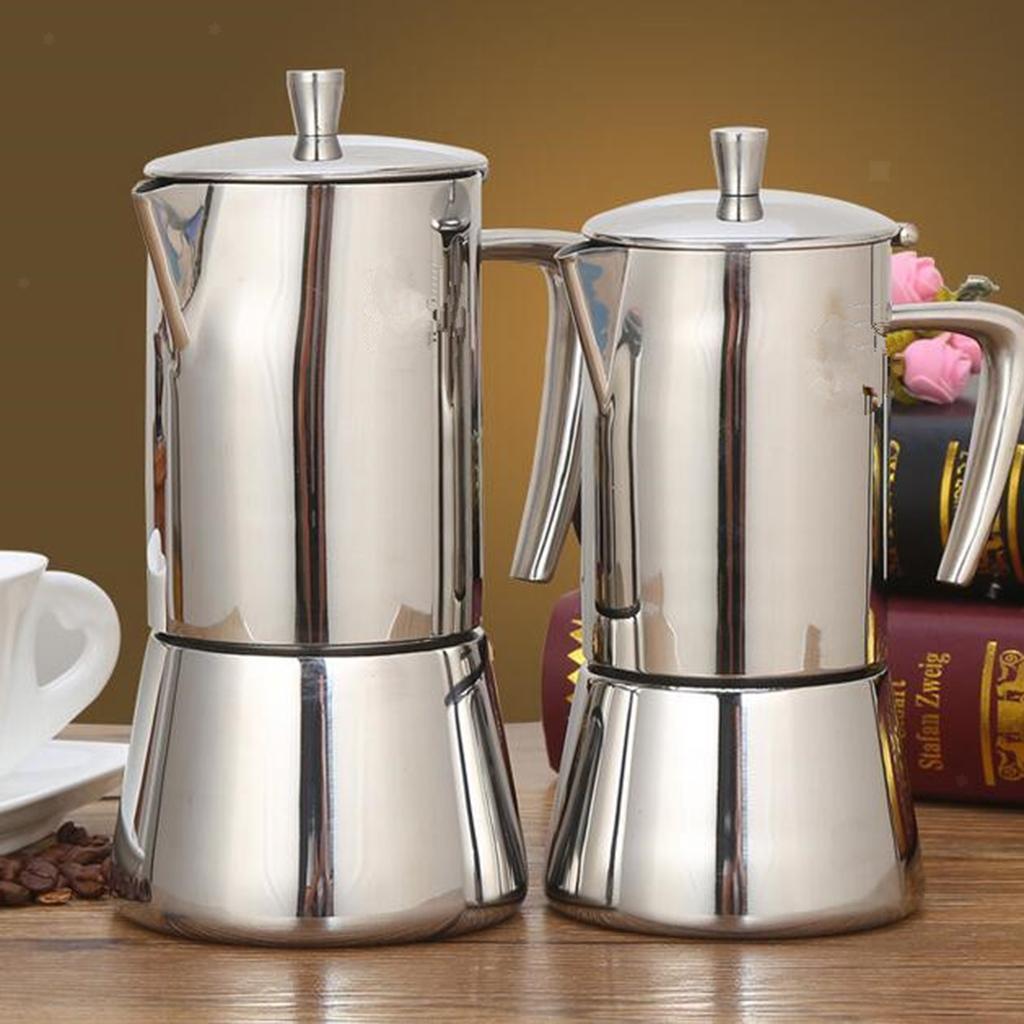 Espresso-Stove-Top-Coffee-Maker-Moka-Percolator-Pot-4-or-6-Cup thumbnail 3