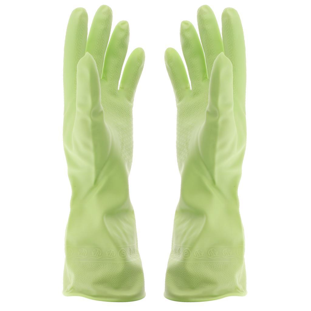 Gloves-Dish-Washing-Cleaning-Waterproof-Soft-Rubber-Scouring-Kitchen-Gloves thumbnail 10