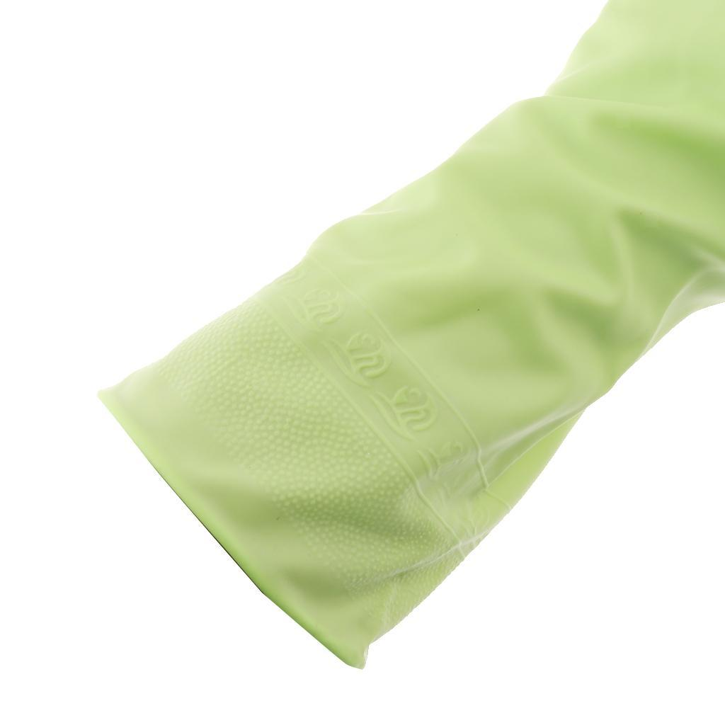 Gloves-Dish-Washing-Cleaning-Waterproof-Soft-Rubber-Scouring-Kitchen-Gloves thumbnail 9