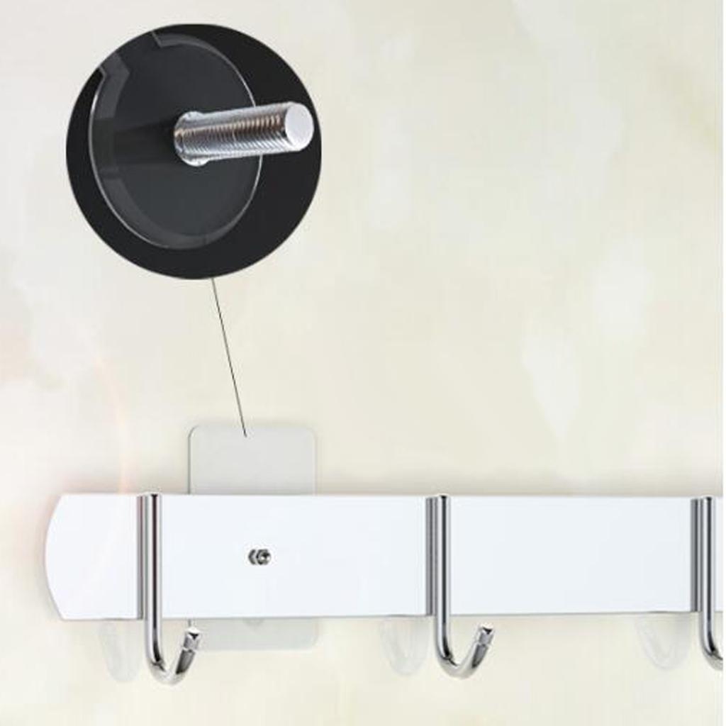 2x-Gancio-Adesivo-in-Acciaio-Inossidabile-Ultra-Forte-Adesivo-Resistente miniatura 8