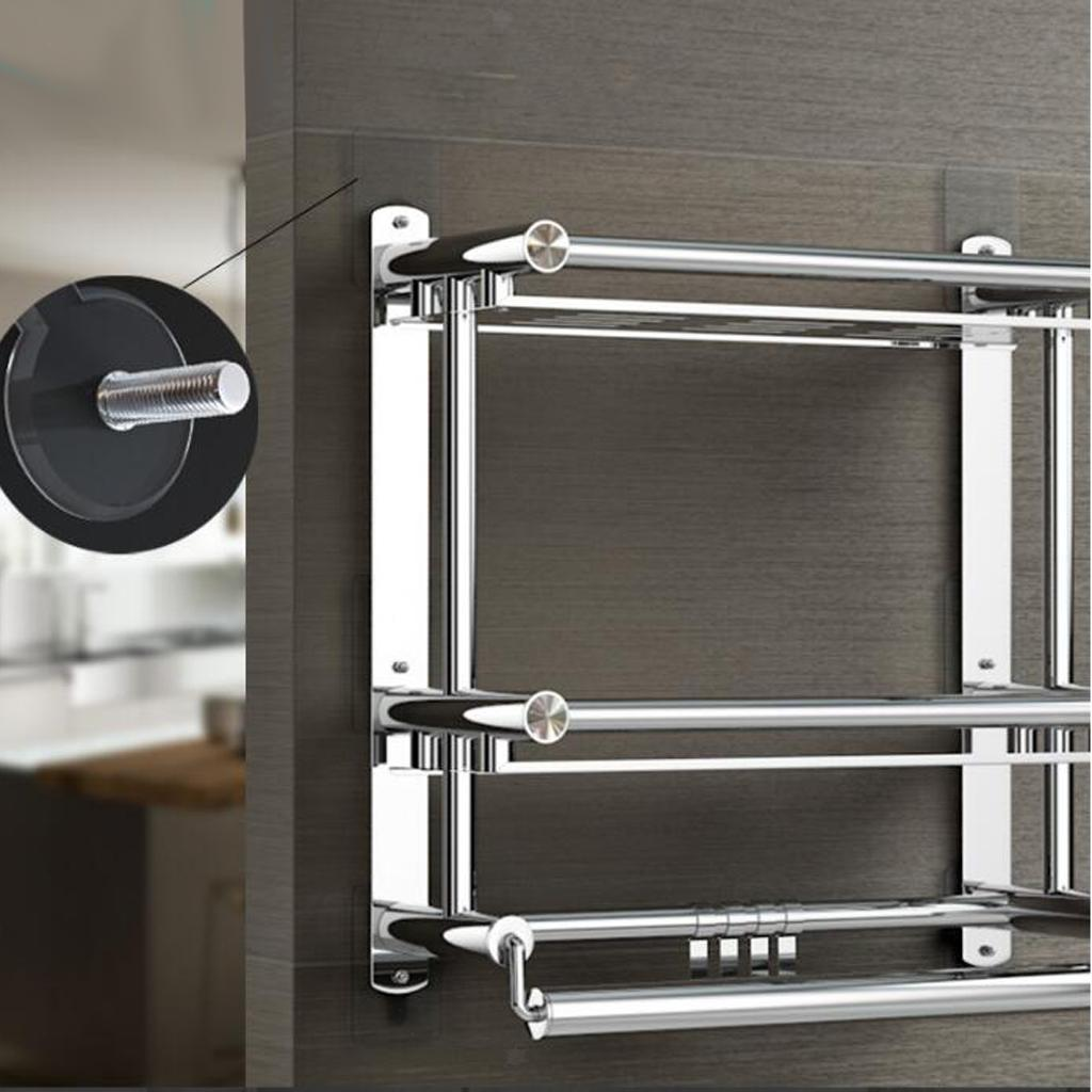 2x-Gancio-Adesivo-in-Acciaio-Inossidabile-Ultra-Forte-Adesivo-Resistente miniatura 9
