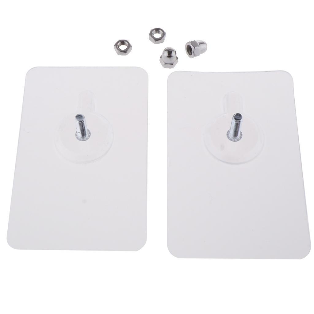 2x-Gancio-Adesivo-in-Acciaio-Inossidabile-Ultra-Forte-Adesivo-Resistente miniatura 7