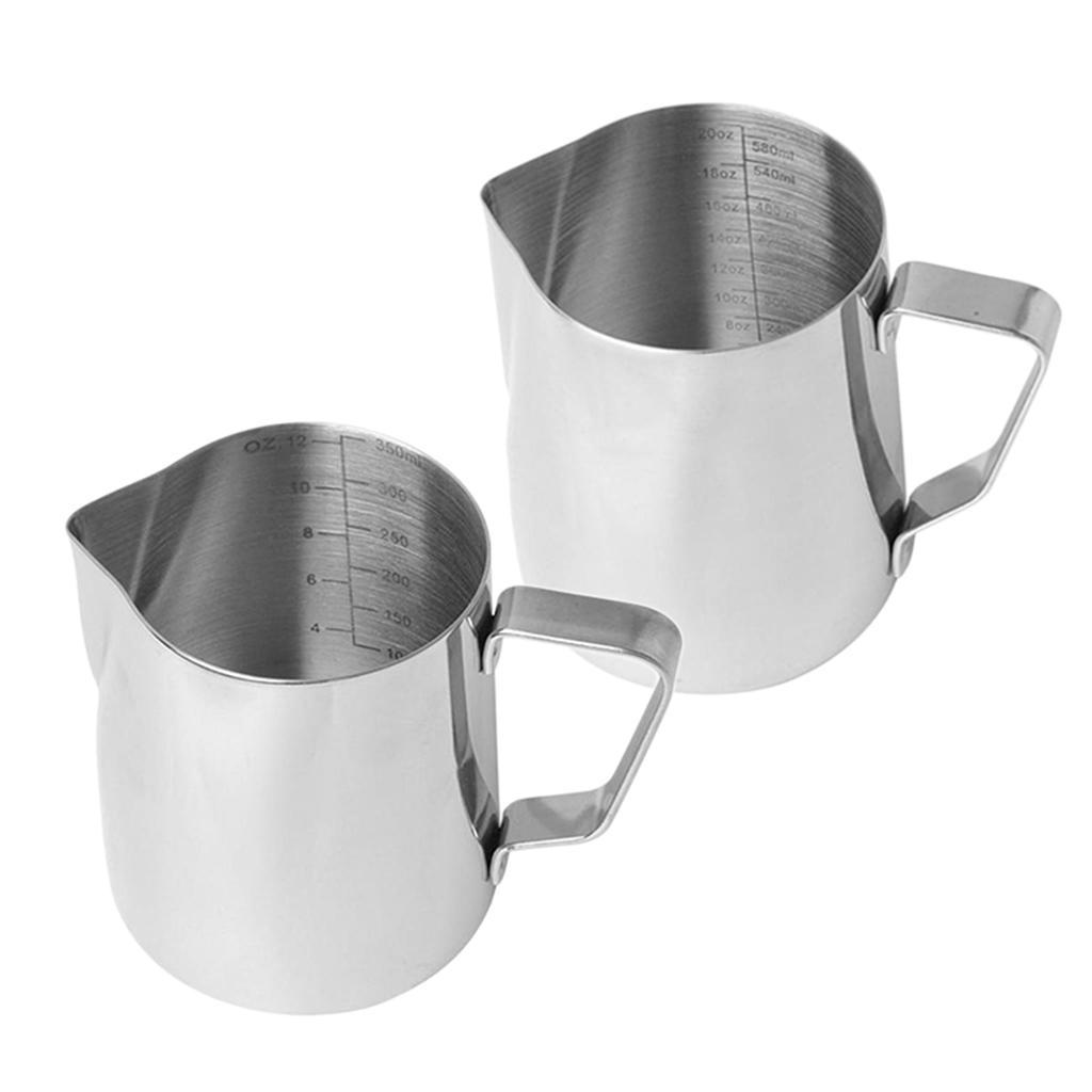 Milk-Frothing-Pitcher-Stainless-Steel-Creamer-Frothing-Pitcher-350-600ml thumbnail 16