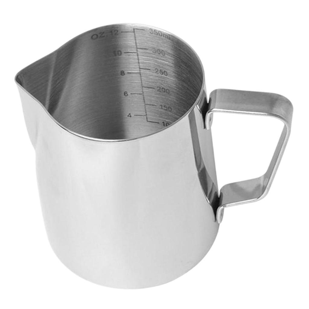 Milk-Frothing-Pitcher-Stainless-Steel-Creamer-Frothing-Pitcher-350-600ml thumbnail 9
