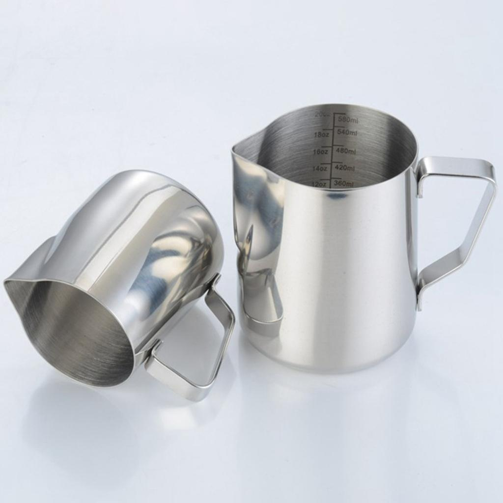 Milk-Frothing-Pitcher-Stainless-Steel-Creamer-Frothing-Pitcher-350-600ml thumbnail 11