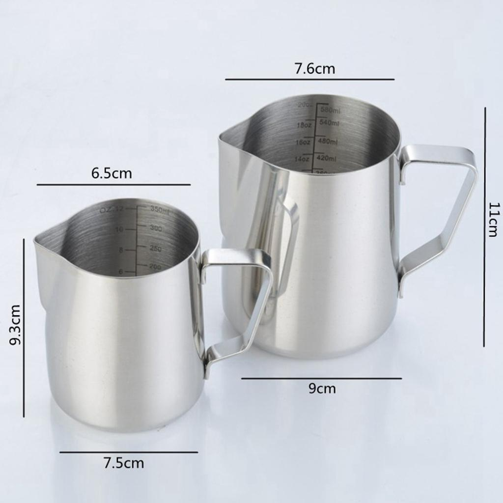 Milk-Frothing-Pitcher-Stainless-Steel-Creamer-Frothing-Pitcher-350-600ml thumbnail 14