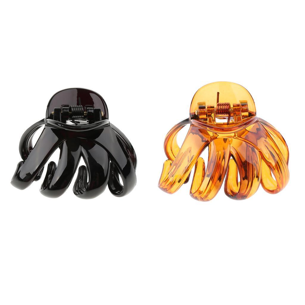 Large-Hair-Claw-for-Thick-Women-Hair-Updo-Tool-Octopus-Jaw-Grip-Folding-Clip thumbnail 3