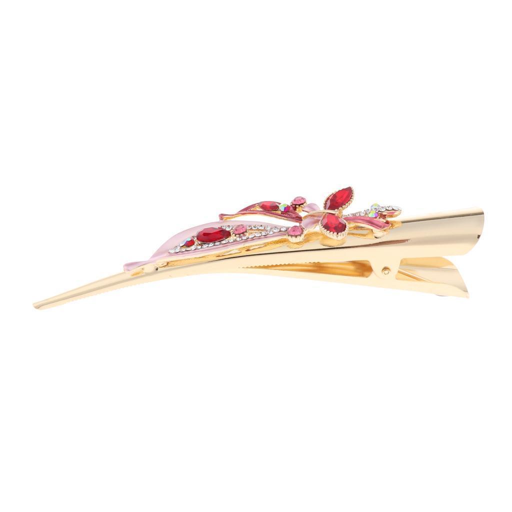 Fermacapelli-per-capelli-in-coccodrillo-con-strass-in-metallo miniatura 17