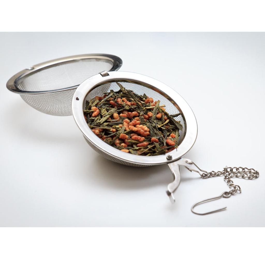 Stainless-Steel-Infuser-Strainer-Mesh-Tea-Filters-Spoon-Locking-Spice-Ball thumbnail 12