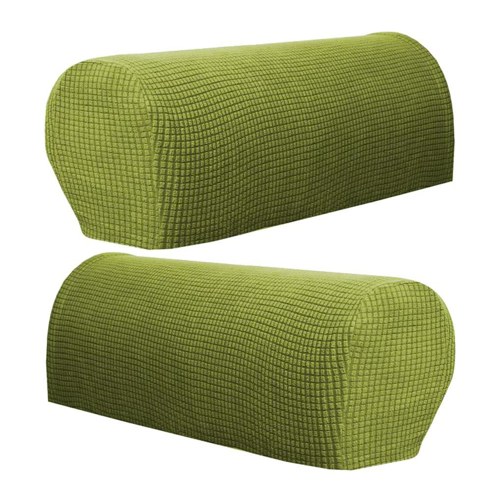 Stretch Fabric Armrest Covers Armchair Slipcovers for ...
