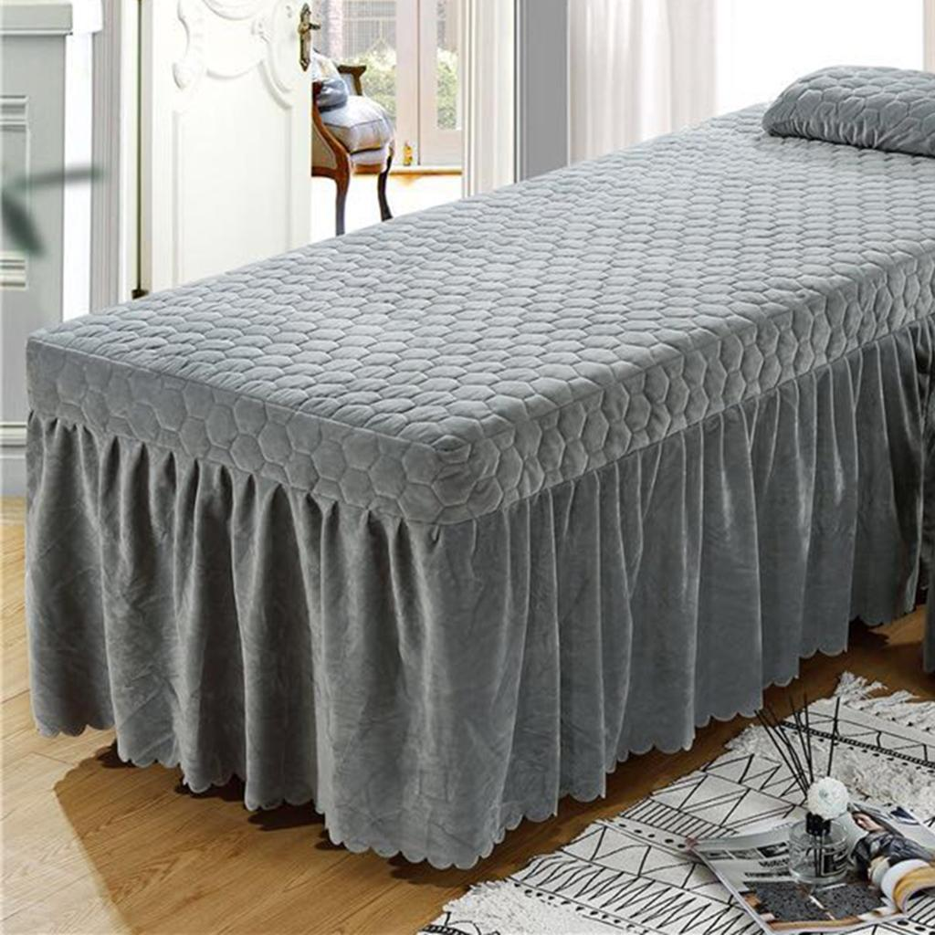 SPA-Massage-Bed-Bedding-Linen-Set-Table-Skirts-Pillow-Case-Stool-Cover thumbnail 13