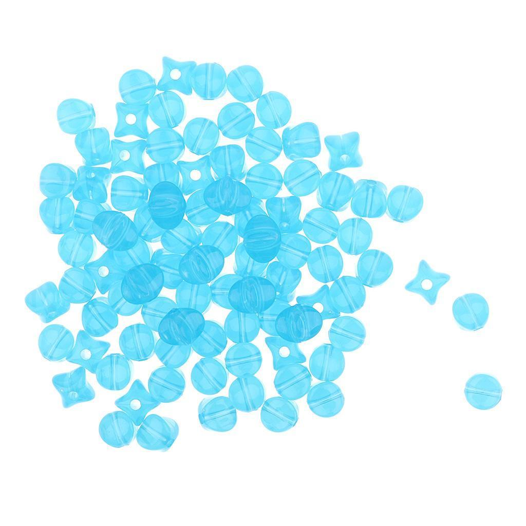 100g-9mm-Acrylic-Loose-Beads-Square-Jelly-Design-DIY-Jewelry-Findings-Making thumbnail 16