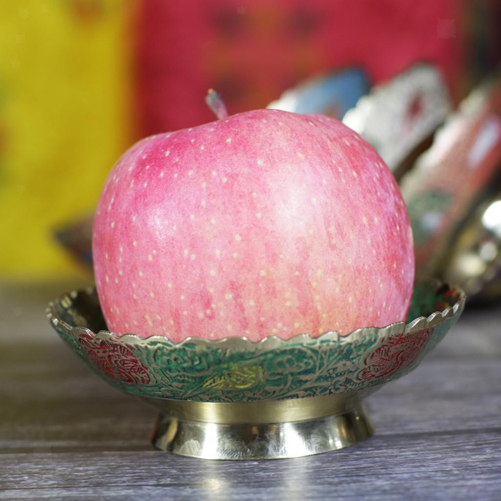 Piatta-Cibo-Casa-Servire-Tavola-Frutta-Buddismo-Decorazione-Collezioni miniatura 13