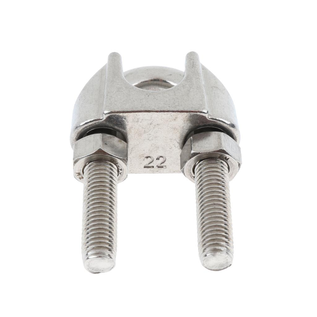 Stainless Steel Wire Cable Clip Clamp U Shape Bolt M10//M12 14//16//18//20//22mm
