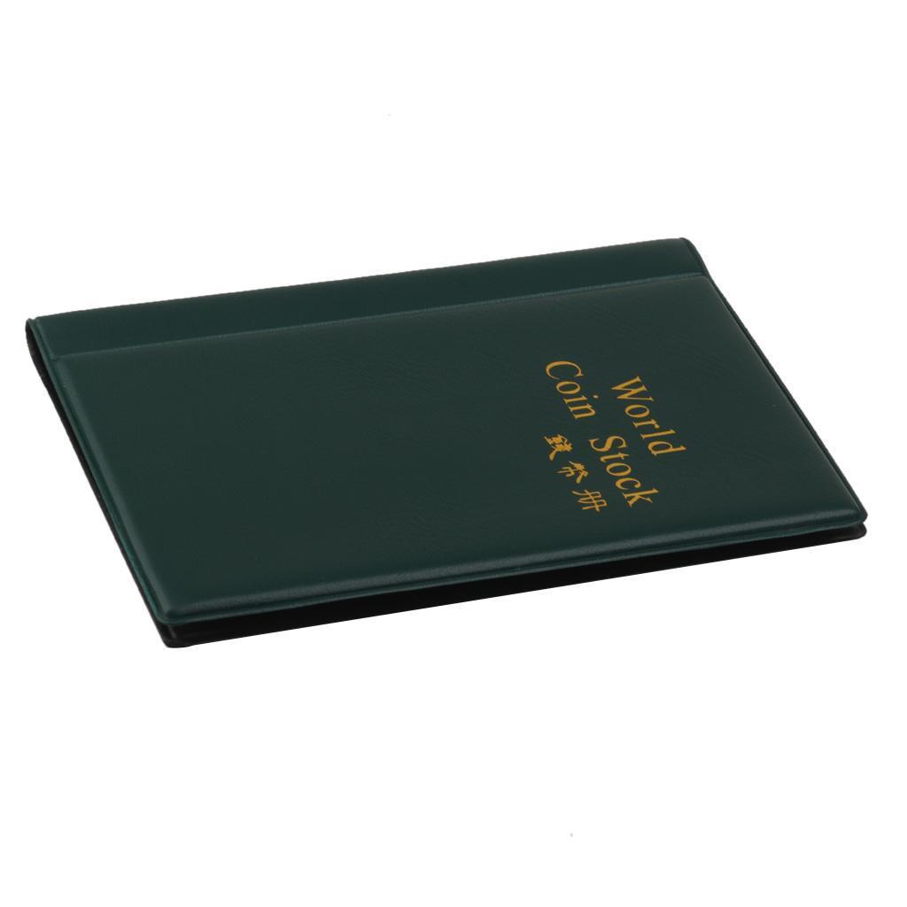 Raccoglitore per collezione di monete, 120 tasche (copertina inglese) Verde 6