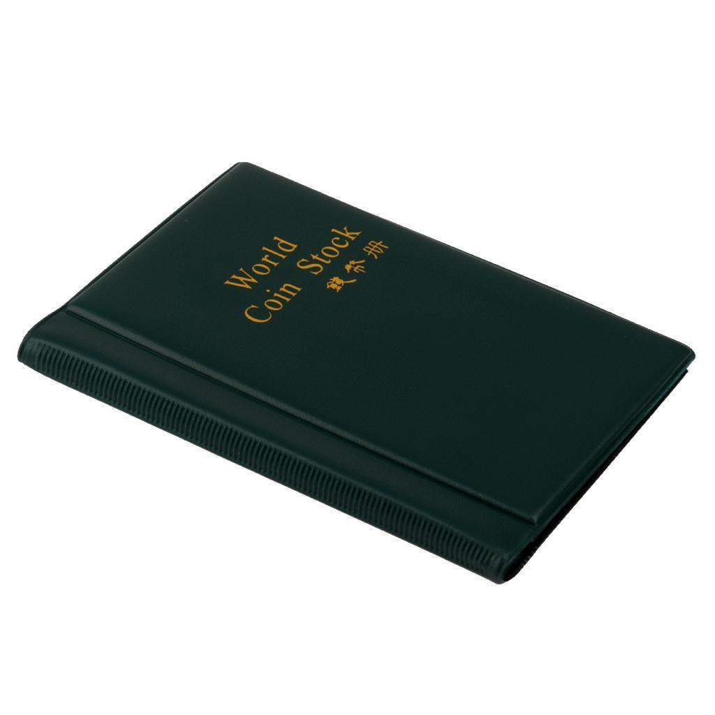 Raccoglitore per collezione di monete, 120 tasche (copertina inglese) Verde