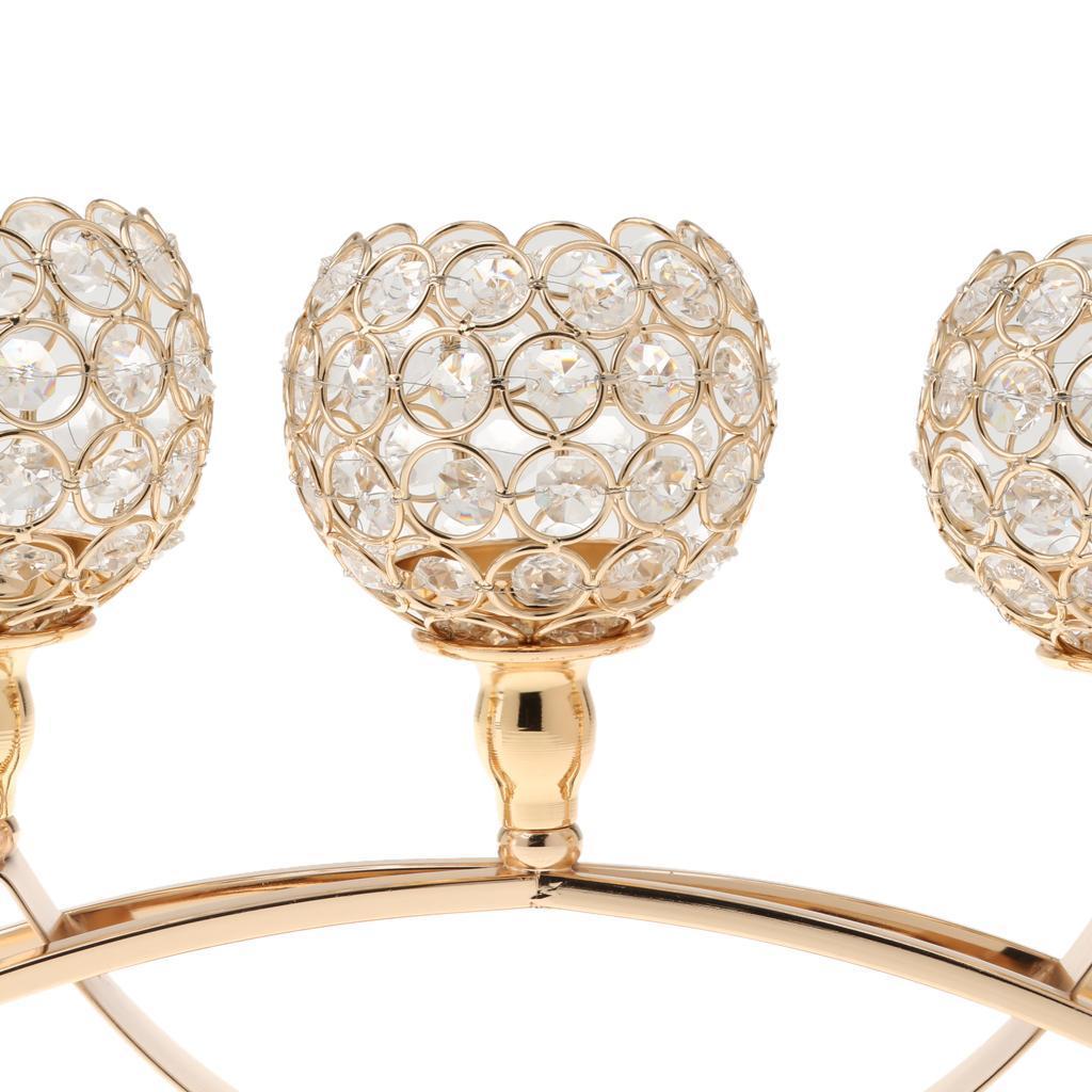 3-Design-Arm-Pillar-Crystal-Cup-Candle-Holder-Candelabra-Wedding-Table-Decor thumbnail 14