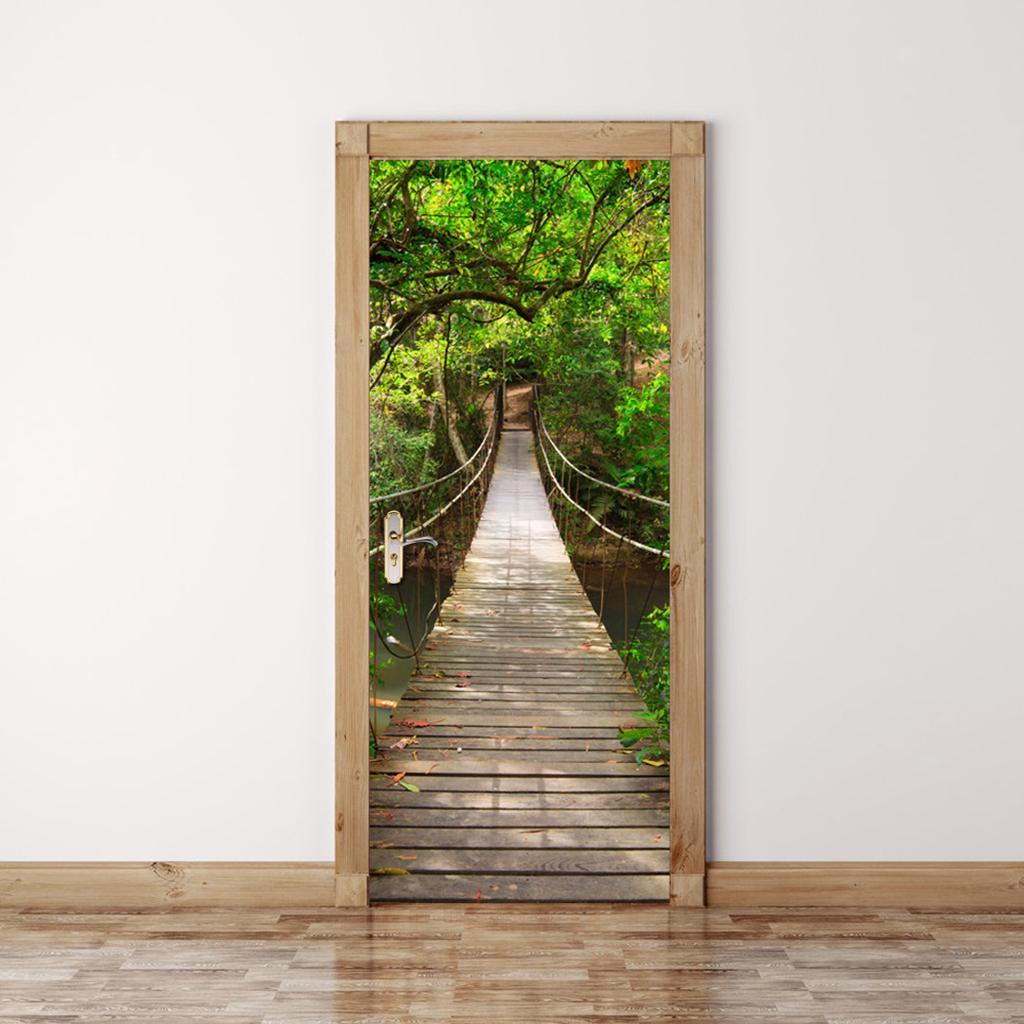 3D Tür Aufkleber Wandtattoos Selbstklebende Wandbild